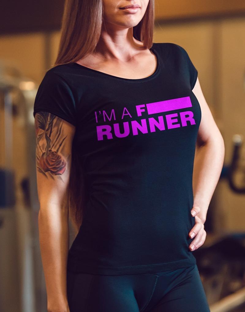 Camiseta de Corrida Feminina Gola V - I M A F  RUNNER - Vem Treinar 21abdcda893cd